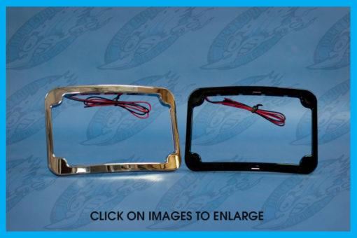 Harley Curved Led License Plate Frame John Shope S