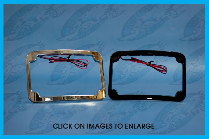 Harley LED license plate frames by John Shope