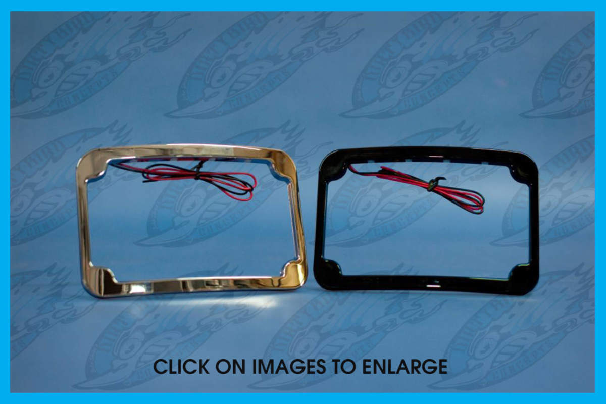 Harley - Curved LED License Plate Frame | John Shope's ...