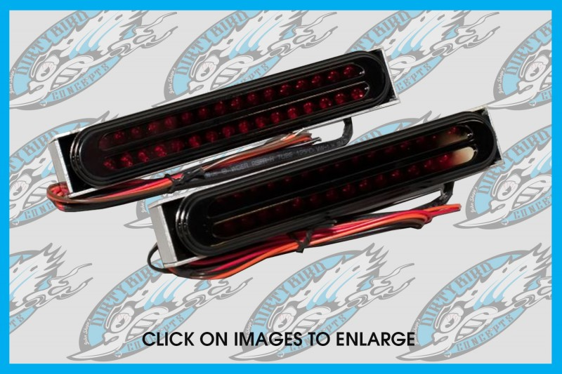 Oval LED tail lights for Harley & Indian baggers by John Shope