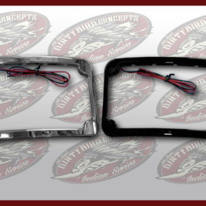 Indian LED license plate frame by John Shope in black or chrome