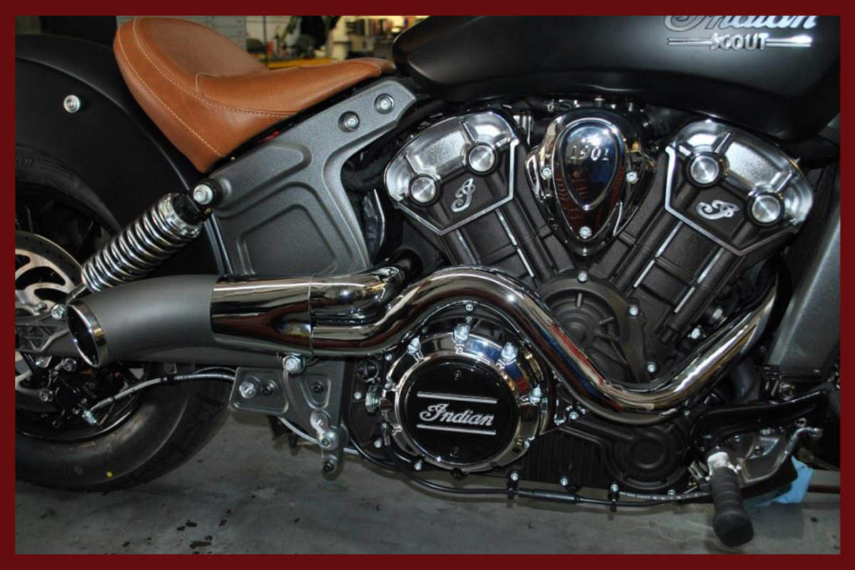 Indian Scout Exhaust Race Tech Performance Exhaust  Dirty -3740
