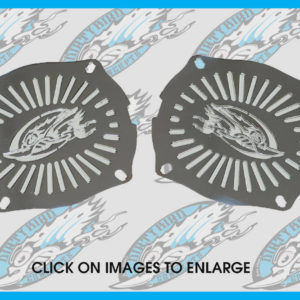 Dirty Bird fairing speaker grills for Street Glide & Electra Glide