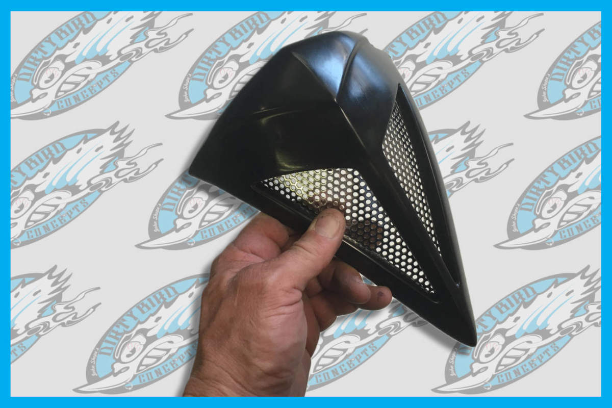 Horn Cover For Bagger Harley Baggers Touring Road King Street Glide Fiberglass