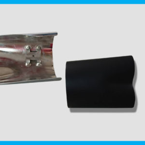 Harley exhaust heat shield replacement for Up Yours exhaust