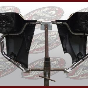 Indian Motorcycle leg warmer speakers